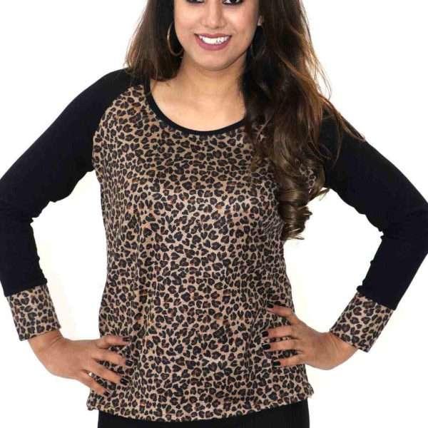 Latest leopard print top