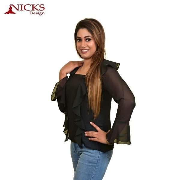 Black full sleeves top