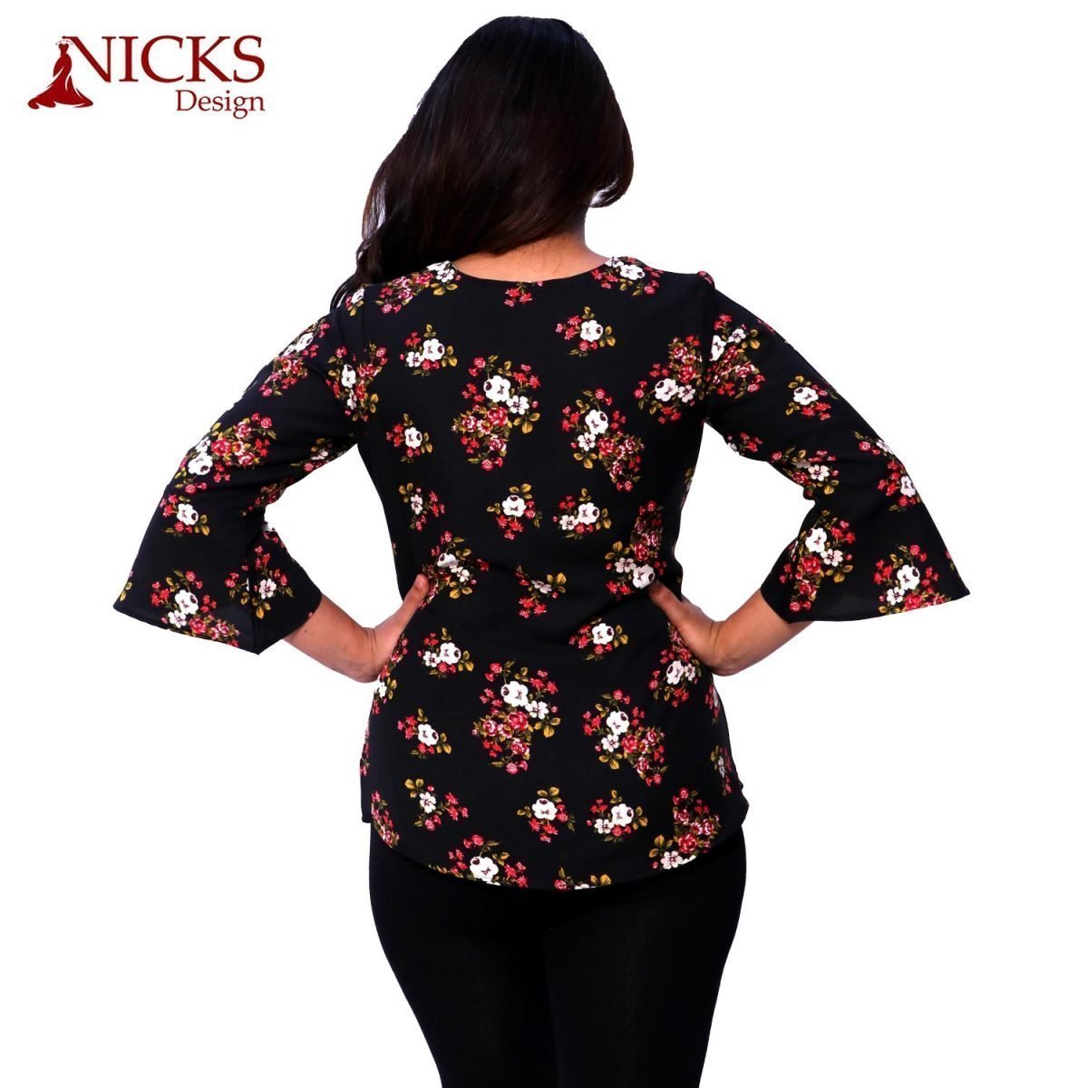 Floral Ruffle Top for women