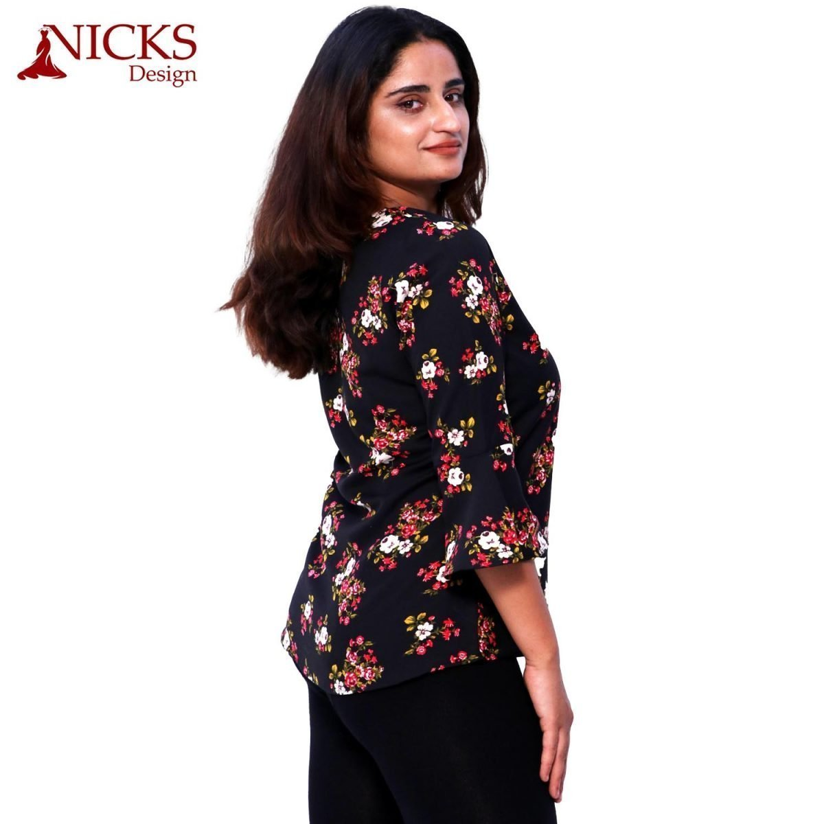 Floral Ruffle Top for gilrs