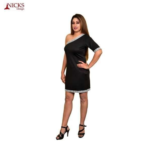 One side off shoulder Dress