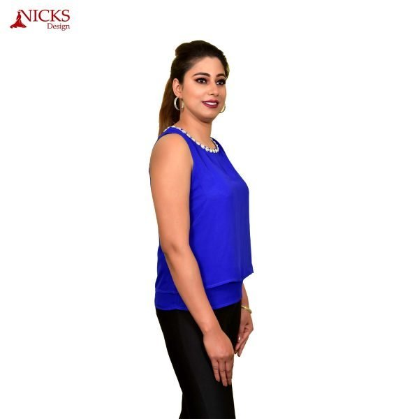 Blue double layer top