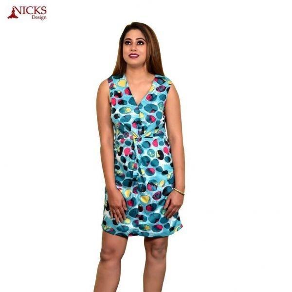 Front knot Short Dress