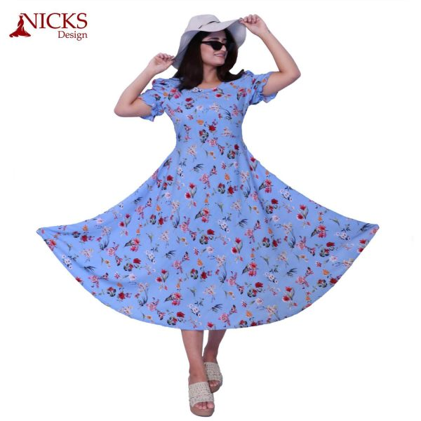 American Floral Print Frock