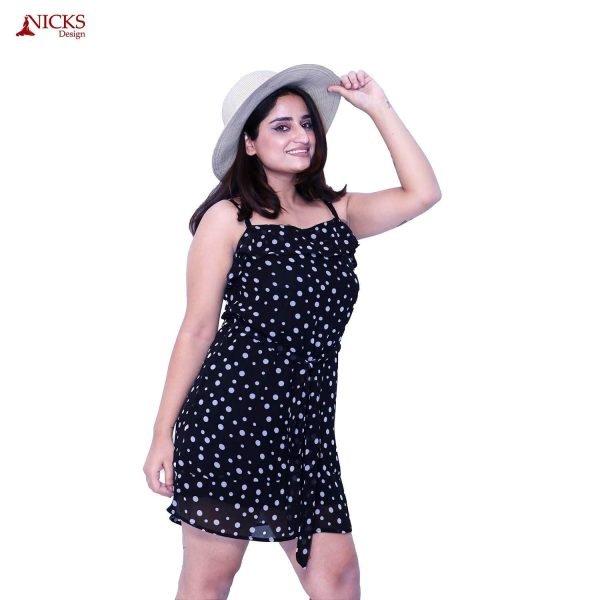 Polka Dot Strap Short Dress